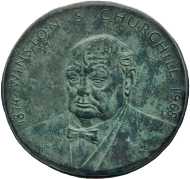 1970/15 Churchill Plaque