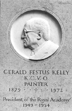 1973/6 Memorial to Sir Gerald Festus Kelly