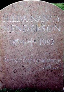 1982/7 Headstone Hilda Nancy Henderson