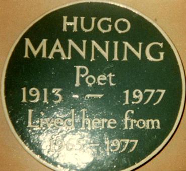 1982/6 Plaque to Hugo Manning