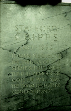 1954/4 Sir Stafford Cripps inscription